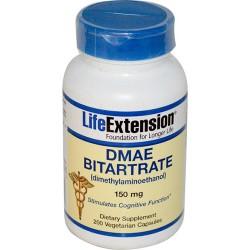 LifeExtension DMAE Bitartrate 150 mg capsules - 200 ea