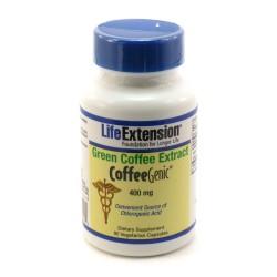 LifeExtension Coffeegenic Green Coffee extract 400 mg, veg caps - 90 ea