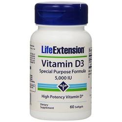 LifeExtension vitamin D3 5000 IU softgels - 60 ea