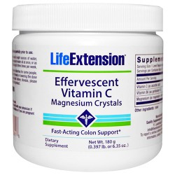 LifeExtension Effervescent vitamin C Magnesium crystals - 6.35 oz