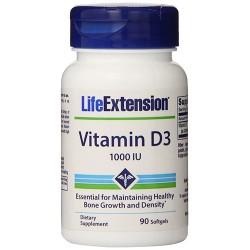 LifeExtension Vitamin D3 1000 IU bone growth softgels - 90 ea