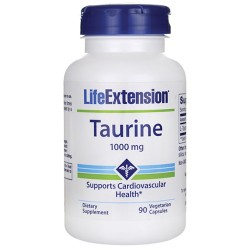 LifeExtension Taurine 1000 mg vegetarian capsules - 90 ea