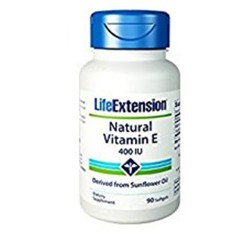 LifeExtension Natural vitamin E 400 IU softgels - 90 ea