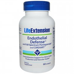 Life Extension endothelial defense with full spectrum pomegranate and Cordiart softgels - 60 ea