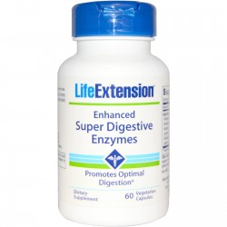 LifeExtension Super Digestive enzymes, veg caps - 60 ea