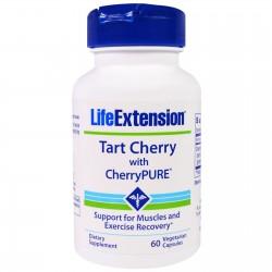 LifeExtension Tart Cherry extract with Cherrypure, veg caps - 60 ea