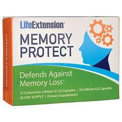 LifeExtension Memory protect against memory loss capsules - 36 ea