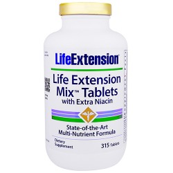 LifeExtension mix tablets with extra niacin - 315 ea