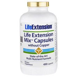 LifeExtension mix capsules without copper - 490 ea