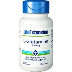 LifeExtension L Glutamine 500 mg, capsules - 100 ea