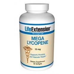 LifeExtension Mega Lycopene 15 mg capsules - 100 ea
