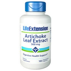LifeExtension Artichoke leaf extract 500 mg vegetarian capsules - 180 ea
