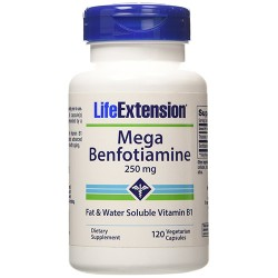 LifeExtension Mega Benfotiamine 250 mg Vegetarian Capsules - 120 ea