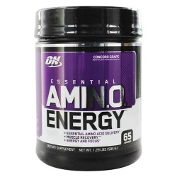 Optimum nutrition - essential amino energy 65 servings concord grape - 1.29 lbs