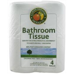Earth friendly bathroom tissue extra strength, absorbency - 4 roll