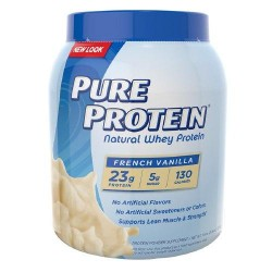 Pure protein natural whey protein french vanilla- 25.6 oz