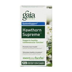 Gaia Herbs Hawthorn Supreme Liquid Phyto Capsules, cardiovascular function - 60 ea