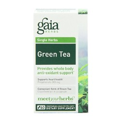 Gaia Herbs Green Tea Liquid Phyto Capsules, anti oxident support - 60 ea