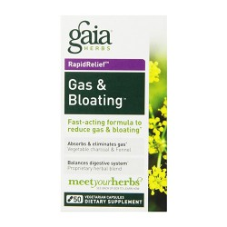 Gaia Herbs Gas and Bloating Digestive Support, reduce gas and bloting - 50 ea