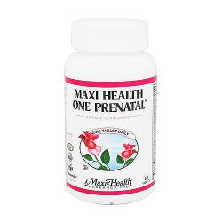 Maxi-Health Vitamins One Prenatal One-A-Day Formula Tablets - 60 ea