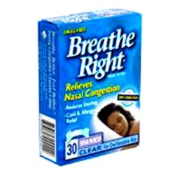 Breathe right nasal strips, clear, small/medium - 30 ea