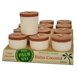 Aloha bay perfume blend votive candle, bahia coconut  -  2 Oz, 12 pack
