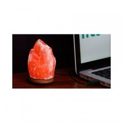 Himalayan salt lamp with USB plg - 1 ea