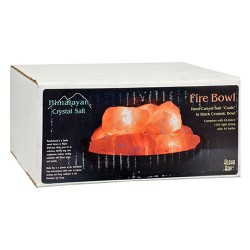 Himalayan salt fire bowl with stones - 1 ea