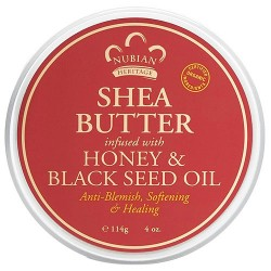 Nubian Heritage Shea Butter Infused With Honey and Black Seed Oil - 4 oz