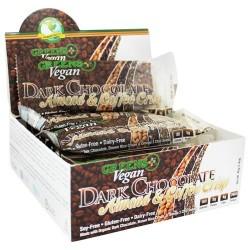 Greens Plus - Vegan Coffee Almond Chia Crisp Bar Dark Chocolate Almond & Coffee Crisp - 1.4 oz