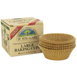 If you care unbleached totally chlorine free, large baking cups - 60 ea,  24pack