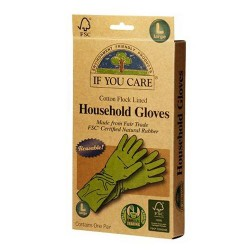 If you care household gloves latex cotton flock, large - 1 pair,12 pack