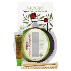 Moom organic eyebrow shaping kit with promegranate - 0.6  oz