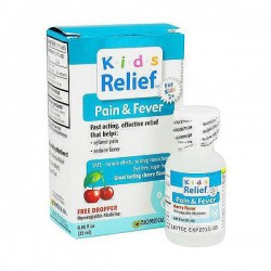 Homeolab USA Kids Relief Pain and Fever, Cherry Flavor - 0.85 oz