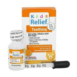 Homelab Kids Ages 0-9 Teething Syrup, Orange Flavor - 25 Ml