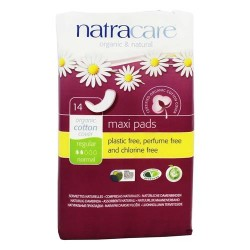 Natracare organic cotton natural feminine maxi pads regular - 14 pad(s)