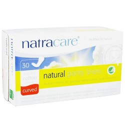 Natracare organic cotton natural panty liners curved - 30 ea