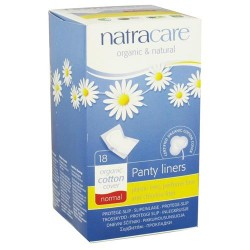 Natracare organic cotton natural panty liners normal 18 liner
