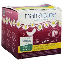 Natracare - organic cotton cover ultra extra pads normal- 12 pads