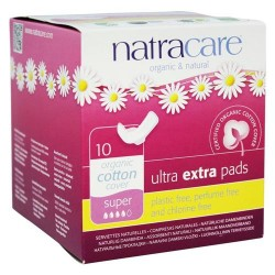 Natracare - organic cotton cover ultra extra pads super - 10 pads