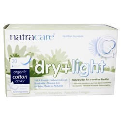 Natracare - organic cotton dry & light natural incontinence pads - 20 pads