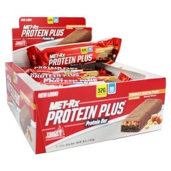 Met-rx - protein plus protein bar chocolate roasted peanut with caramel - 3 oz, 9 pack