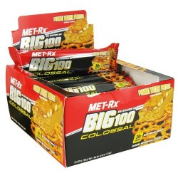 Met-rx - big 100 colossal meal replacement bar peanut butter pretzel - 3 oz