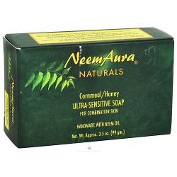 Neem Aura Naturals Ultra-Sensitive Soap, Cornmeal/Honey - 3.5 oz