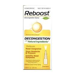 Reboost decongestion nasal spray with natural ingrdients - 0.68 oz