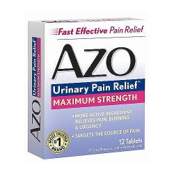 Azo maximum strength tablets for urinary pain reliever- 12 ea