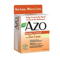 Azo Bladder Control With Go-Less Capsules - 54 ea