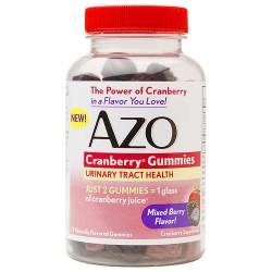 AZO Cranberry Gummies Urinary Tract Health, Mixed Berry72 ea