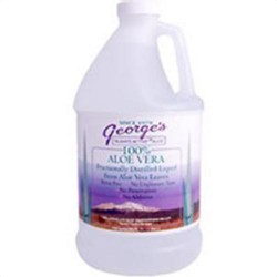 Georges 100% aloe vera fractionally distilled liquid - 64 oz