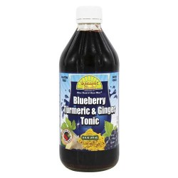 Dynamic health - blueberry, turmeric and ginger tonic - 16 oz